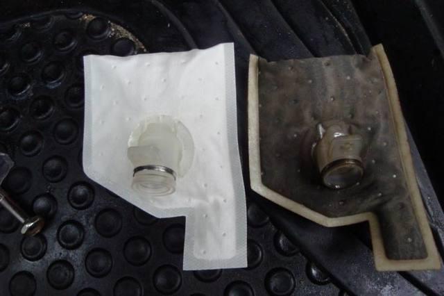 Топливный фильтр грубой очистки (сеточка в бак) toyota, назначение, замена